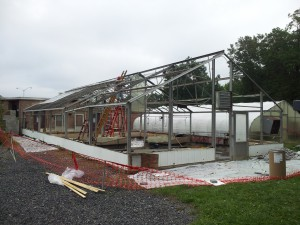 Greenhouse demolition with asbestos gasket abatement